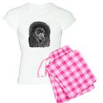 Black Poodle Pencil Drawing Women's Light Pajamas