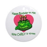 Custom for Carly's Third Birthday Ornament (Round)