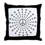 Peace Burst Throw Pillow