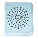Peace Burst baby blanket