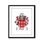Rocchi Family Crest Framed Panel Print