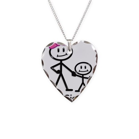 Big Sister Necklace Heart Charm