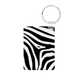 Zebra Aluminum Photo Keychain