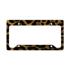 Jaguar Print License Plate Holder