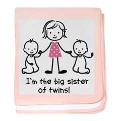 Big Sister of Twins baby blanket