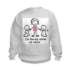 Big Sister of Twins Kids Sweatshirt