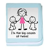 Big Cousin of Twins baby blanket