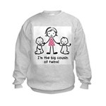 Big Cousin of Twins Kids Sweatshirt