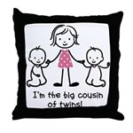 Big Cousin of Twins Throw Pillow