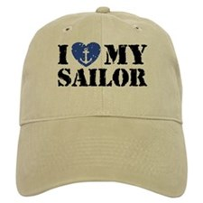 I Love My Sailor Baseball Cap