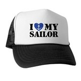 I Love My Sailor Trucker Hat