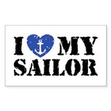 I Love My Sailor  Aufkleber