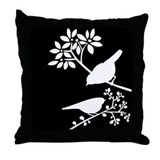 Elegant Birds Throw Pillow