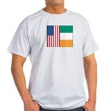 US Flag and Ireland Flag T-Shirt