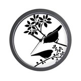 Elegant Birds Wall Clock