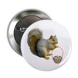 "Squirrel Easter Basket 2.25"" Button"