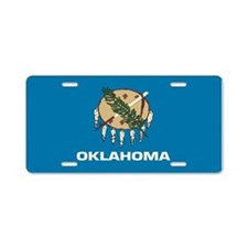 """Oklahoma Flag"" Aluminum License Plate"