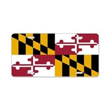"""Maryland Flag"" Aluminum License Plate"