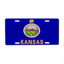 """""""Kansas Flag"""" Aluminum License Plate"""
