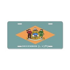 """Delaware Flag"" Aluminum License Plate"