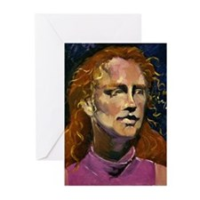 Red Headed Girl Greeting Cards (Pk of 20)