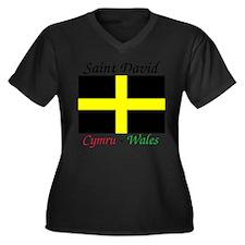Cute Flag wales Women's Plus Size V-Neck Dark T-Shirt