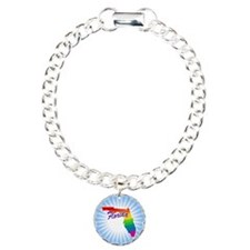 Gay Pride Rainbow Florida Bracelet