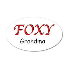Foxy Grandma 20x12 Oval Wall Decal