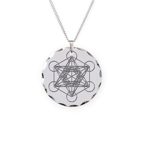 Metatrons cube necklace circle charm by expressivemind for Metatron s cube jewelry