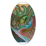 Valley Cat 42 Sticker (Oval 10 pk)