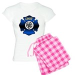 Fire Chief Gold Maltese Cross Women's Light Pajama