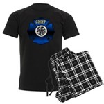 Fire Chief Gold Maltese Cross Men's Dark Pajamas