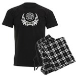 Fire Chief Tattoo Men's Dark Pajamas
