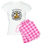 Thanksgiving Firefighter Women's Light Pajamas