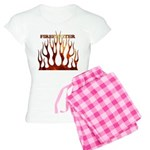 Firefighter Tribal Flames Women's Light Pajamas