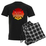 Firefighter Aunt Men's Dark Pajamas