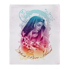 """""""Most Pure Heart"""" Throw Blanket"""