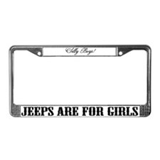 Funny Silly boys License Plate Frame
