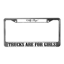 Funny Trucking License Plate Frame