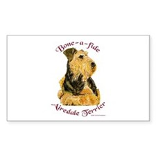 Bone-a-fide Airedale Rectangle Decal
