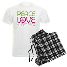 Peace Love Sweet Peas pajamas