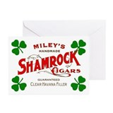 Shamrock Cigar Greeting Cards (Pk of 10)