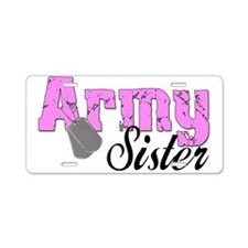 Army Sister Aluminum License Plate