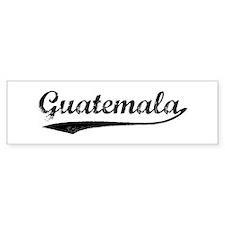 Vintage Guatemala Bumper Car Sticker