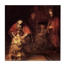 Rembrandt Return Of The Prodigal Son Tile Coaster