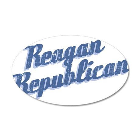 Reagan Republican (blue) 38.5 x 24.5 Oval Wall Pee