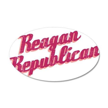 Reagan Republican (pink) 38.5 x 24.5 Oval Wall Pee