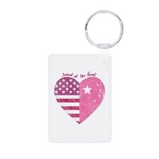 Joined at the Heart (pink) Keychains