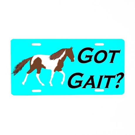 Got Gait Spotted Saddle Horse Aluminum License Plate