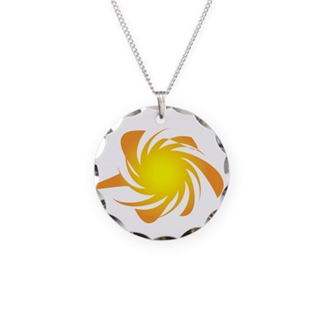 Funky Sun Necklace Circle Charm